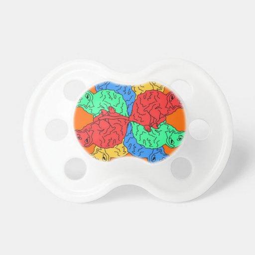 Kreis der Farborange Baby Schnuller