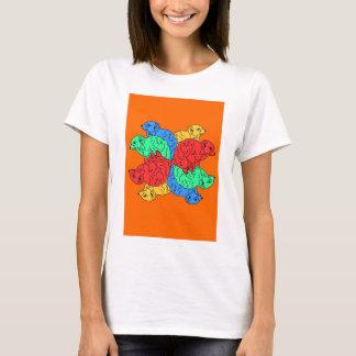 Kreis der Farborange T-Shirt