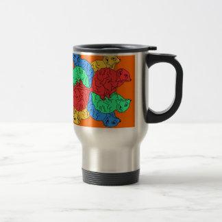Kreis der Farborange Kaffee Haferl