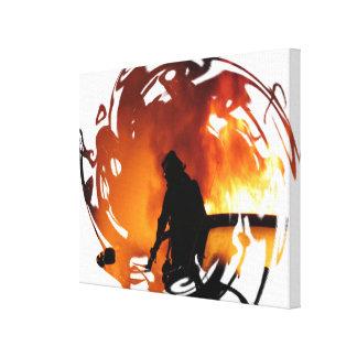 Kreis der Flammen Leinwanddruck