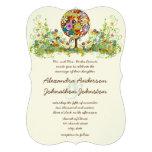 Kreis der Liebe-Blumen-Baum-Hochzeits-Einladung