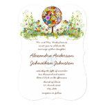 Kreis der Liebe-Blumen-Baum-Hochzeits-Einladung 12,7 X 17,8 Cm Einladungskarte
