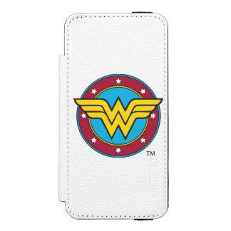 Kreis der Wunder-Frauen-  u. Stern-Logo Incipio Watson™ iPhone 5 Geldbörsen Hülle