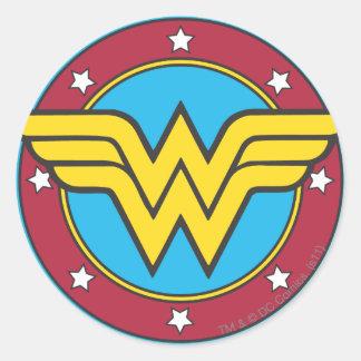 Kreis der Wunder-Frauen-| u. Stern-Logo Runder Aufkleber