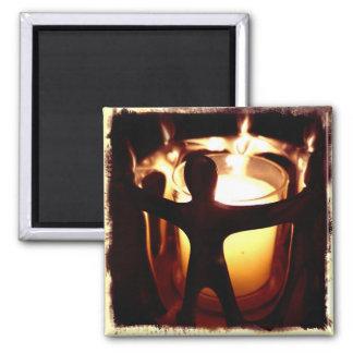 Kreis des Freund-Votive Kerzen-Retro Filters Quadratischer Magnet