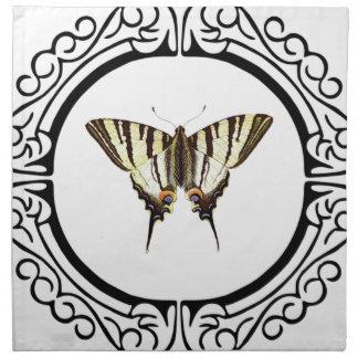 Kreis des Schmetterlinges Serviette