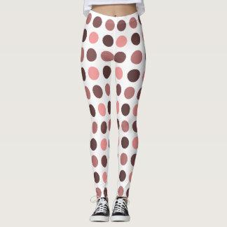 Kreis-Druck-Muster - einfarbige Farbe Leggings