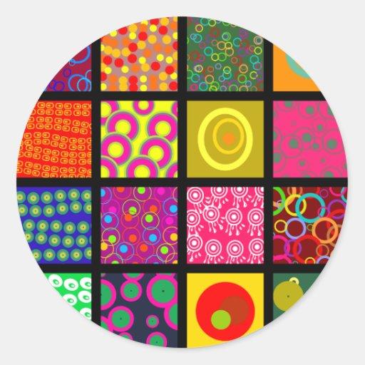 Kreis-Fliesen-Tapete Sticker