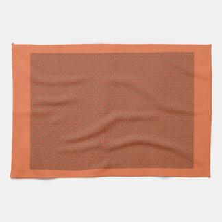 Kreis geometrisch im orange Rot u. in Brown-Tuch Küchenhandtuch