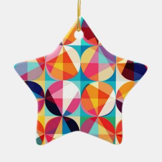 Kreis geometrisches Kaledioscope Muster Keramik Stern-Ornament