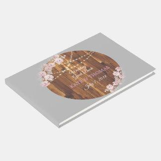Kreis-helle mit Blumenschnur-hölzernes Gästebuch