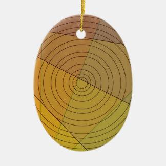 Kreis im Dreieck Keramik Ornament