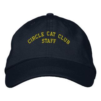 Kreis-Katzen-Verein-Personal-Kappe Bestickte Baseballmützen