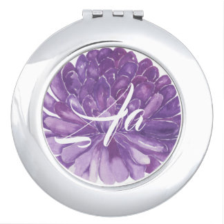 "Kreis-kompakter Spiegel ""Lavendel-Blume "" Taschenspiegel"