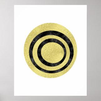 Kreis-Kunst moderne Kunst Kunst der Goldfolie Poster