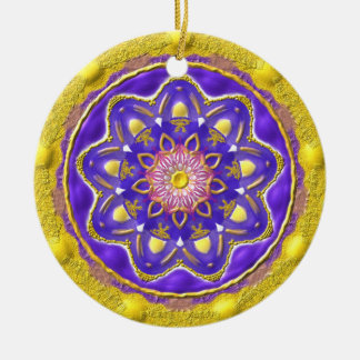 "Kreis-Ornament ""Flowerqueen"" Keramik Ornament"