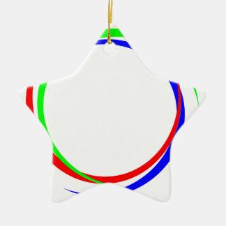 Kreis-RGB-Logo Keramik Stern-Ornament