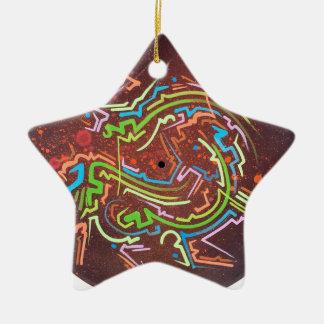 Kreis-rotdampf Keramik Stern-Ornament