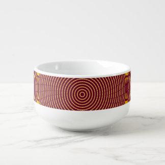 Kreis-Spirale-Suppen-Tasse Browns gelbe Große Suppentasse
