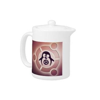 Kreis Ubuntus Linux des Freund-Logos mit Tux