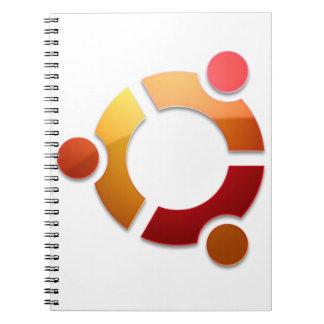 Kreis Ubuntus Linux des Freund-Logos Notizblock