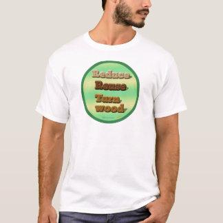 """Kreis """"verringern, verwenden wieder, drehen T-Shirt"""