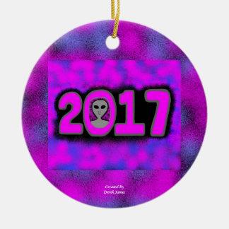 Kreis-Verzierung der Gruß-2017 Keramik Ornament