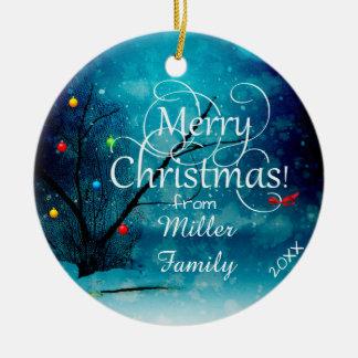 Kreis-Verzierung - frohe Weihnachten Keramik Ornament
