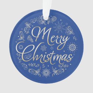 Kreis-Verzierung mit Weihnachtsentwurf Ornament