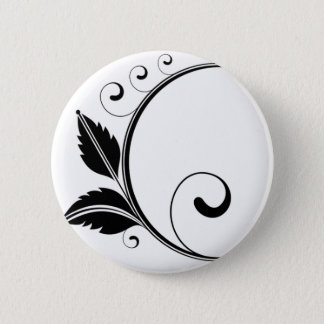 Kreis, Verzierung, schwarz Runder Button 5,7 Cm