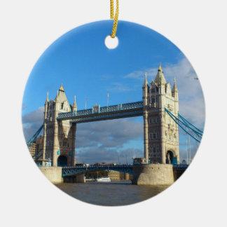 Kreis Verzierung-Turm Brücke London Keramik Ornament