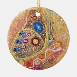 Kreis-Verzierungs-Schmetterlings-Kunst-Malerei Rundes Keramik Ornament