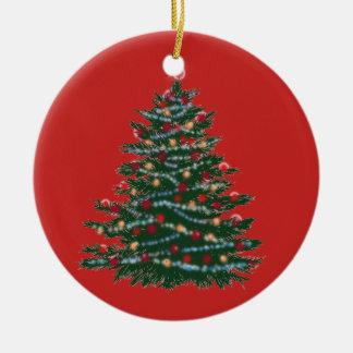 Kreis-Verzierungs-Weihnachtsbaum Keramik Ornament