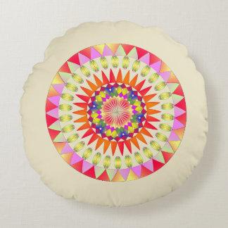 Kreis von Farben Rundes Kissen