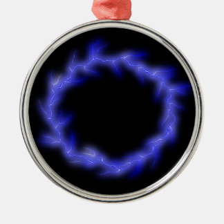 Kreisblitz Rundes Silberfarbenes Ornament