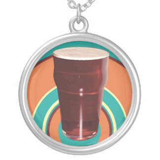 Kreise Ale-der runden Bier-Halskette Versilberte Kette