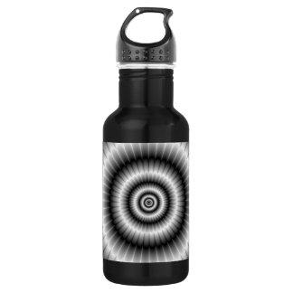 Kreise in der Schwarzweiss-Flasche Trinkflasche