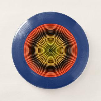 Kreise - orange Gelb-Schwarzes Wham-O Frisbee