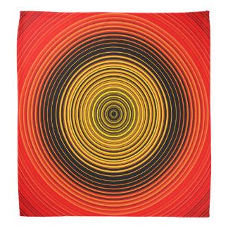 Kreise - rotes gelbes Schwarzes Kopftuch
