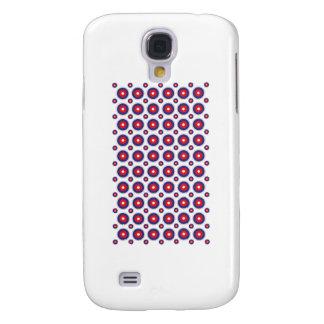 Kreise, runder Hintergrund, rot u. blau, Galaxy S4 Hülle