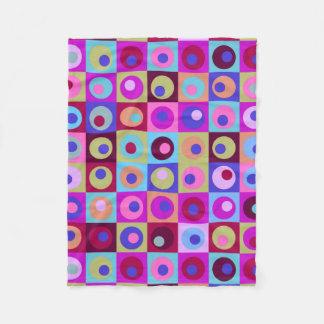 Kreise und Quadrat-Muster Fleecedecke