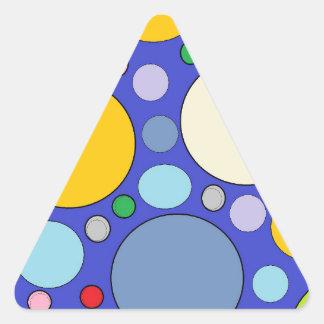 Kreise und Tupfen Dreieckiger Aufkleber