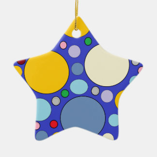 Kreise und Tupfen Keramik Stern-Ornament