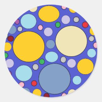 Kreise und Tupfen Runder Aufkleber