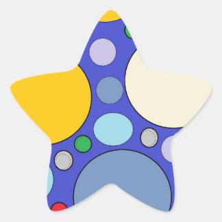 Kreise und Tupfen Stern-Aufkleber