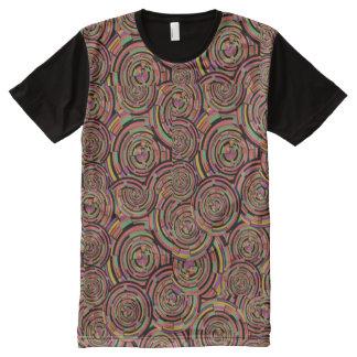 Kreise und Wirbel T-Shirt Mit Bedruckbarer Vorderseite