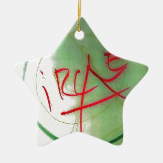 Kreisen Sie A durch Helle ein Keramik Ornament