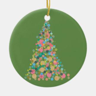 Kreisen Sie Verzierungs-Feiertagsbaum - abstrakte Keramik Ornament