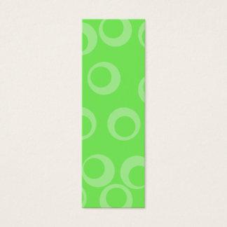 Kreisentwurf im Grün. Retro Muster. Gewohnheit Mini-Visitenkarten