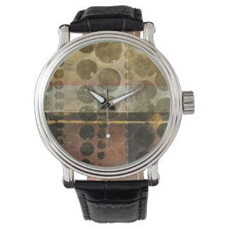 Kreisförmige grüne Tröpfchen Armbanduhr